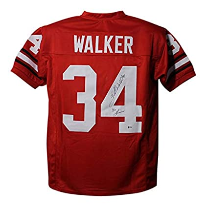 31ea63bd695 Image Unavailable. Image not available for. Color  Herschel Walker  Autographed Signed Georgia Bulldogs Red XL Jersey ...