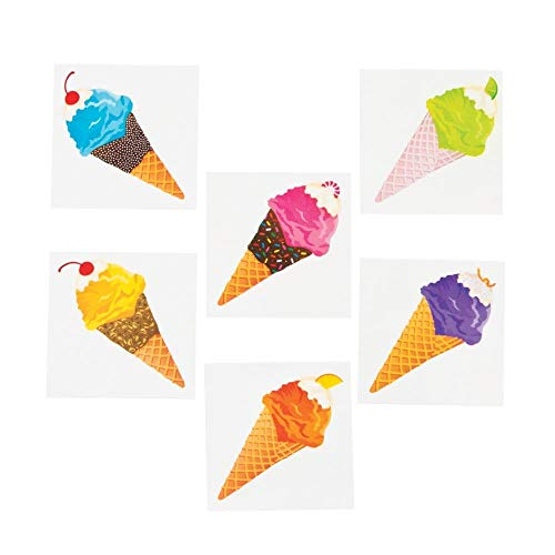 Ice Cream Party Favors (Fun Express Ice Cream Temporary Tattoos (72)