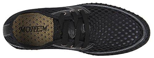 Mohem Mens Poseidon Mesh Chaussures De Marche Occasionnels Chaussures Deau Black3166