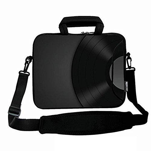 RICHEN 14 15 15.4 15.6 inch Laptop Shoulder Bag Messenger Bag Case Notebook Handle Sleeve Neoprene Soft Carring Tablet Travel Case with Accessories Pocket (14-15.6 inch, Black Design) ()