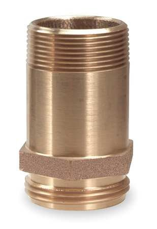 Moon 5358-1521 Brass Brass Rack Nipple, 1-1/2