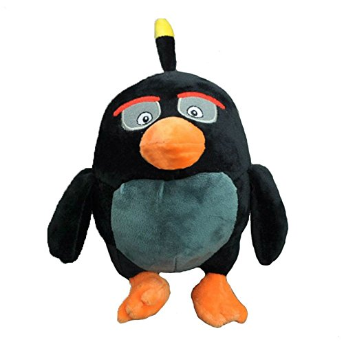 Price comparison product image Cute Colorful Black Bird Soft Stuffed Animal Plush Toy Doll For Children 1pcs