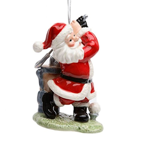 Appletree Design Golfing Santa Ornament, 4-3/8-Inch Tall, Includes String for Hanging