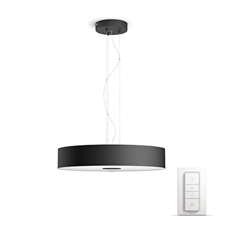 9376d17ebaac Philips Hue White ambiance Being - Lámpara colgante LED negra con mando