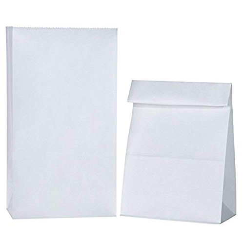 Flat Paper Bags Bottom (BagDream Paper Lunch Bags #12 7x4.5x13.75