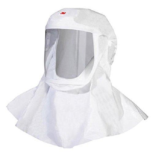 3M Versaflo Polypropylene Hood with Integrated Head Suspension, Medium/Large Size, White (Case of 5)