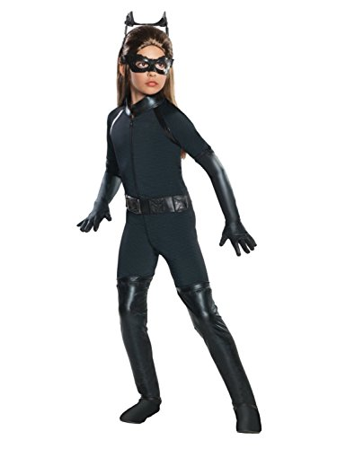 Dark Knight Rises Child Catwoman Costume (Batman The Dark Knight Rises Girls Catwoman Halloween Costume Dress Up Outfit S)