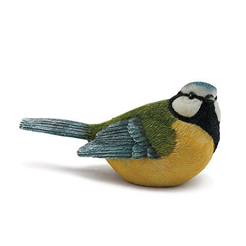 Napco Sitting, Watchful Blue Bird Textured Look 5 x 2.5 Resin Stone Garden Figurine (Resin Figurines Bird)