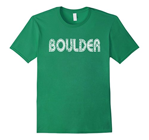 Boulder Colorado - Men's Vintage Boulder Colorado T-shirt  Large Kelly Green