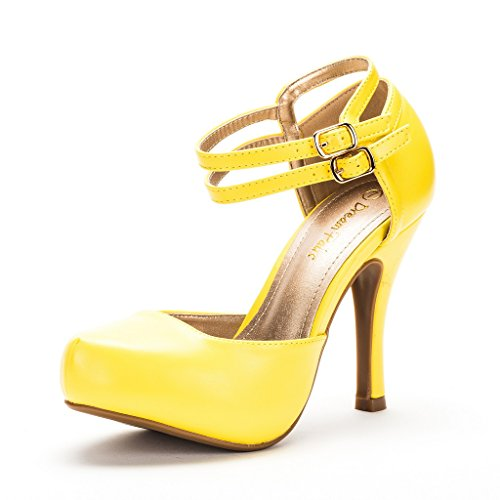 Yellow High Heel Pumps - 5
