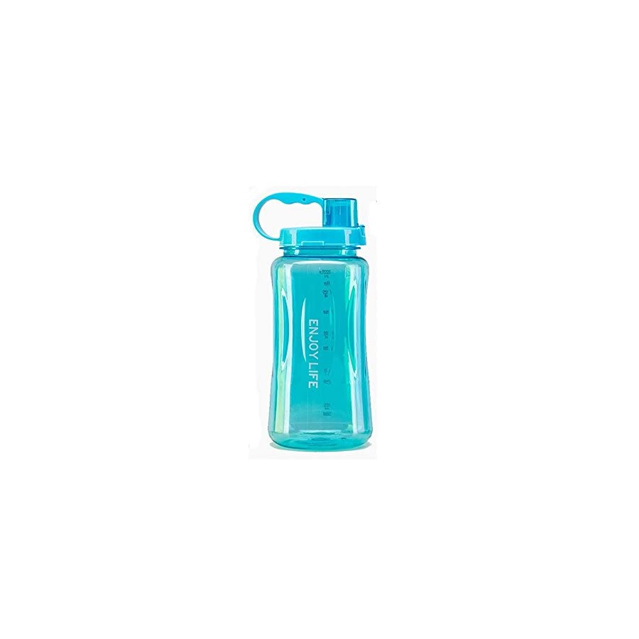 Large Water Bottle, 50oz Wide Mouth BPA FREE Bottles Leak Proof With Straw Strap for Adult Gym Sport Hiking Camping Picnic