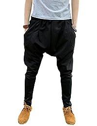 LifeHe Men Women Harem Jogger Pants Hip Hop Sweatpants