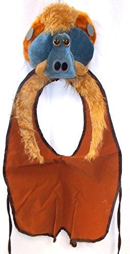 Orangutan Monkey Costume Vest Plush Hat Zoo 4-8 NIP