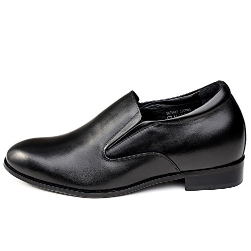 Taller Increasing Black CHAMARIPA Shoes On height inches Slip Mens X70H03 Loafer Elevator Shoes 95 Custommade Smart Dress 2 aSq5C