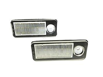 TMT LEDS(TM) PLAFONES LED MATRICULA A6 AVANT C5 4B HOMOLGADO E4 CE LUCES LED: Amazon.es: Coche y moto