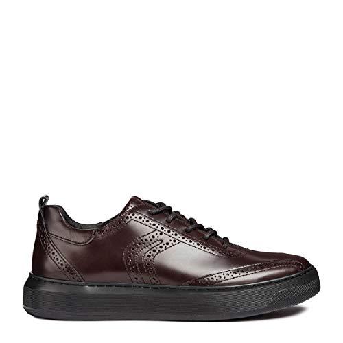 Geox Basses Rouge dk Deiven Homme Sneakers E U C7357 Burgundy IROfqrI