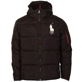 Ralph Lauren Big Pony Down Jacket, Large Logo – Navy or Blue