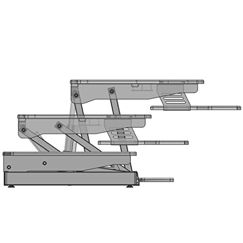 Electric Height Adjustable Sit Stand Desk Converter For Dual Monitor, Separate Keyboard & Mouse by LAMURO (Image #2)