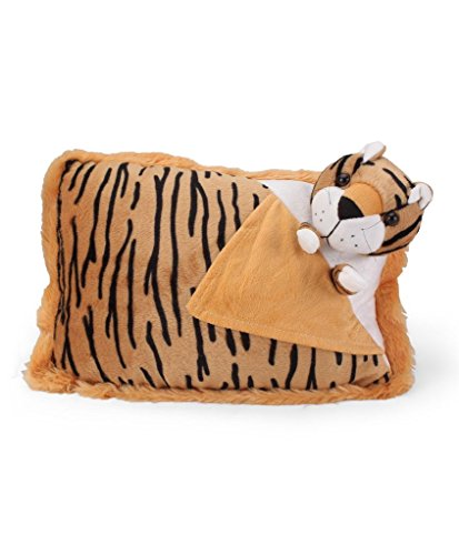 Tickles Brown Tiger Cushion Stuffed Soft Plush Toy Love Girl 35 cm