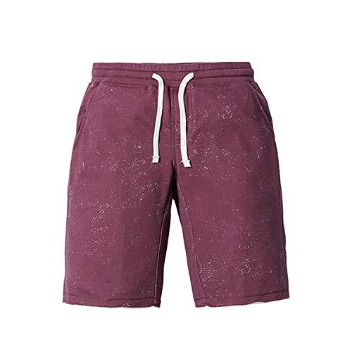- InnovativeVersionSin 2019 Summer New Shorts Men Sportswear Comfortable Vintage Fashion Casual Sweat Trousers Shorts Purple red,XXL