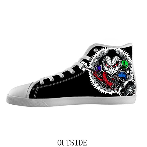 Fashion White High Top Canvas Shoes Rock Band Kiss Canvas Shoes for Women ro9o7XNK