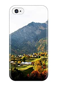 Hot Tpu Cover Case For Iphone/ 4/4s Case Cover Skin - Valley In Autumn