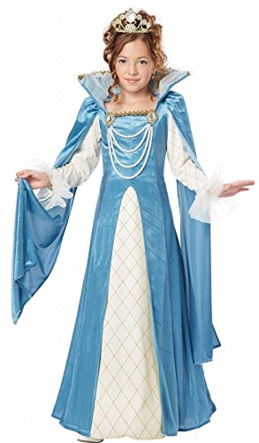 California Costumes Renaissance Queen Child Costume,