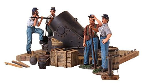 W. Britain 31134 American Civil War - 13 inch mortar and 4 Man Crew