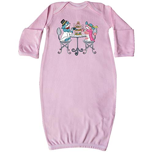 (inktastic - Colorful French Poodles with Tea Newborn Layette Pink 35c91)