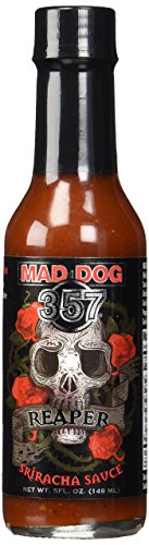 Mad Dog 357 Reaper Sriracha Sauce 5oz (Best Tasting Hot Dogs)