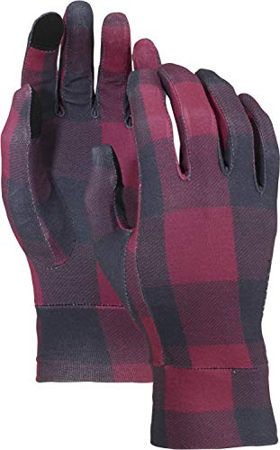 - Burton Touch Screen Glove Liner, Bitters Buffalo Plaid, Medium