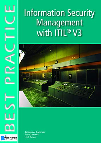 Information Security Management With ITIL V3 (Best Practice Series)