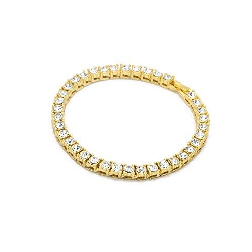 JSPOYOU Clearance Hip Hop Men Bracelet Series Rhinestone Bracelet Chain Bling Crystal Bracelet (Hip Hop Clothing Shoes)
