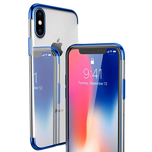 Price comparison product image wantflyer iPhone X 10 Case with Soft Flexible TPU for iPhone X_Blue