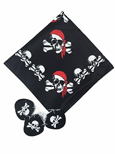 GIFTEXPRESS Pirate Bandana and Felt Pirate Eye Patches 1 Dozen
