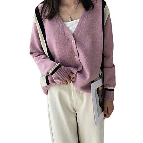 Jocolate(ジョコレート) カーディガン レディース コート ニット セーター トップス ゆったり カジュアル 秋 冬 ピンク オフホワイト 2色