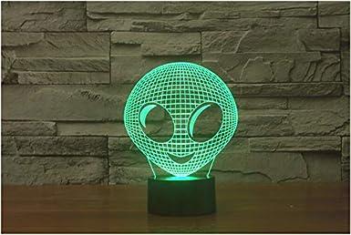 Monstre extraterrestre 3D Illusion Nuit Lumière LED Bureau