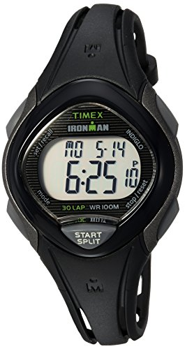 Timex Women's TW5M10300 Ironman Sleek 30 Black Resin Strap Watch