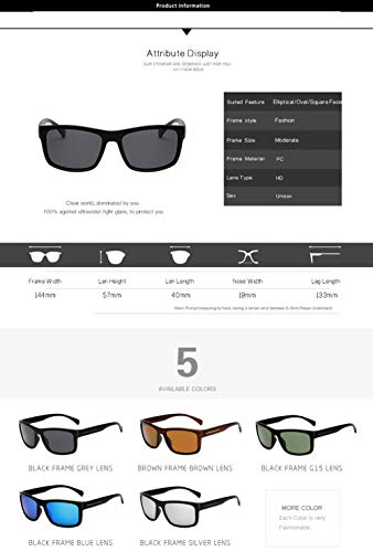 De Mujer C Protección 400 Polarizadas UV para Aviator Hombre para Sol Gafas D qSwdXq