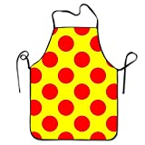 cooks tools polka dot - Red Polka Dot Pattern Durable Unisex Cooking Pinafore