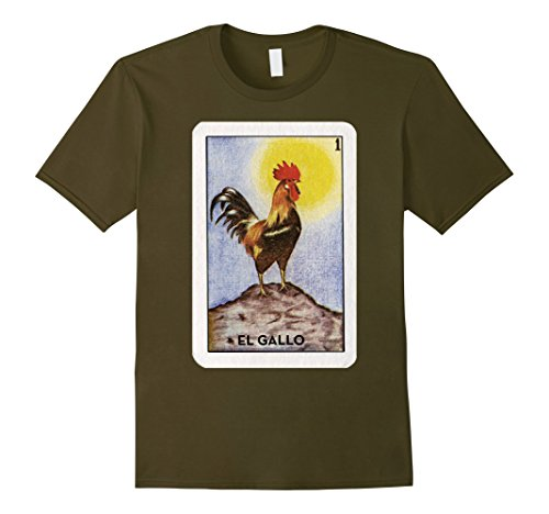 Mens El Gallo Loteria Party Time Small Olive El Olive