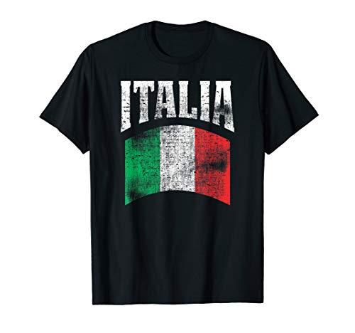 Vintage Italia Flag Italy Flag Proud Italian Pride T Shirt
