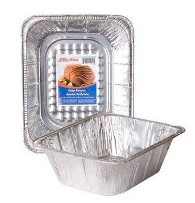 25 Packs Deep Foil Roaster Pans 11.75 By 9.3 By 4