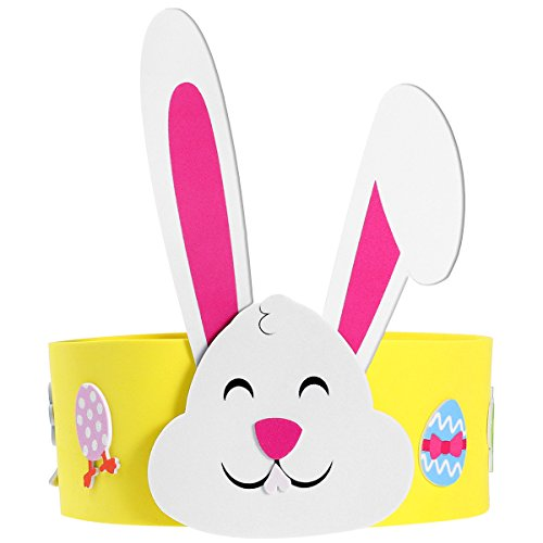 (Unomor Easter Headband Craft Kit with Bunny Ears, Crafts for Kids as Easter Gift for Easter Decoration (Makes 13) )