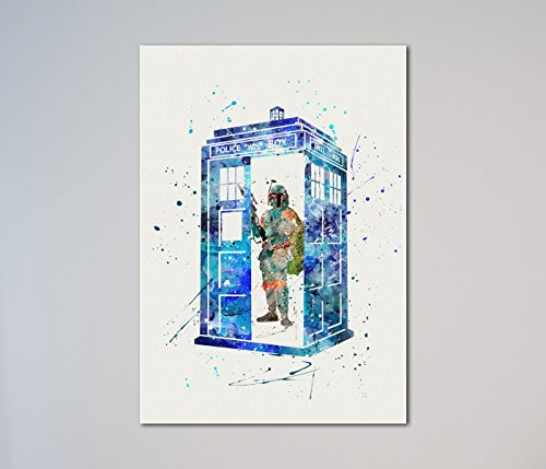 Doctor Who The Tardis Boba Fett Print Star - Express Shipping Time Usps