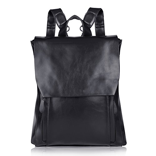 Vbiger Vintage Damen Leder Daypack Synthethisch Leder Rucksack Schulrucksack Backpack Schulranzen