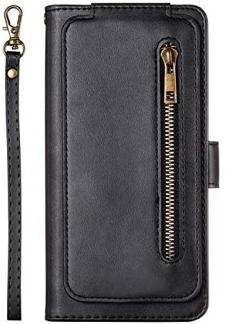 Lomogo Galaxy S8+ / docomo SC-03J / au SCV35 ケース 手帳型 耐衝撃 レザーケース 財布型 カードポケット スタンド機能 マグネット式 ギャラクシーS8プラス 手帳型ケース カバー 人気 - LOYTE040180 黒