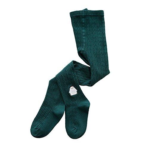 (Rallytan Girls Pantyhose Knitting Daily Tights Embroidery Pattern Stockings,Dark)