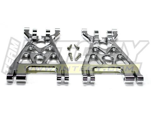 Integy RC Model Hop-ups T7089SILVER Alloy Lower Arm (2) for HPI Savage-X, 21 & 25 (Lower Arms Savage)
