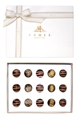 Chocolate Gift Box Gourmet Assorted Gift - Handcrafted Deluxe Chocolates - Great for Corporate Gifts For Clients - Kosher Pareve - By Fames Chocolates